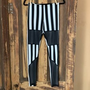 NWOT rave/festival striped leggings